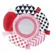 Canpol babies Šustící plyšová hračka na ruku se zrcátkem ZIG ZAG růžová