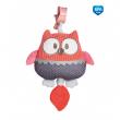 Canpol babies Plyšová hrací skříňka PASTEL FRIENDS červená sova