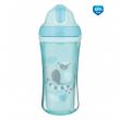 Canpol babies Sportovní láhev se silikonovou slámkou JUNGLE 260ml modrá