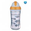 Canpol babies Sportovní láhev se silikonovou slámkou AUTA 260ml