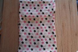 Bambusová dečková plena 120x120 cm růžové hvězdy
