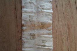 Bambusová dečková plena 120x120 cm medvídek šedý