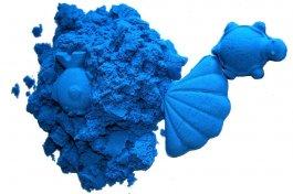 Kinetický písek modrý 2 kg + kbelík