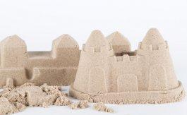 Kinetický písek přírodní 5 kg + kyblík
