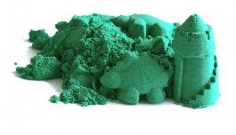 Kinetický písek zelený 2 kg + kbelík