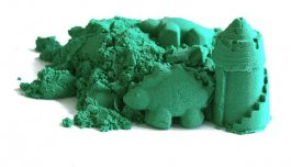 zväčšiť obrázok Kinetický písek zelený 3 kg s vedierkom
