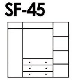 Skříň masiv borovice - SF 45A
