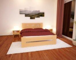 Postel z masivu Justin 120/200 cm + rošt - buk