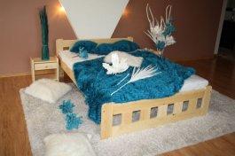 Postel Nika 180 x 200 cm zvýšená + matrace Relax