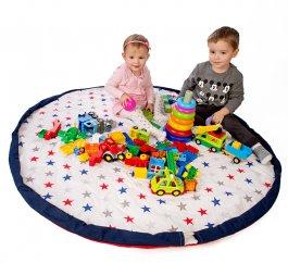 Zvětšit Hrací deka - vak na hračky 130 cm - 16 vzorů