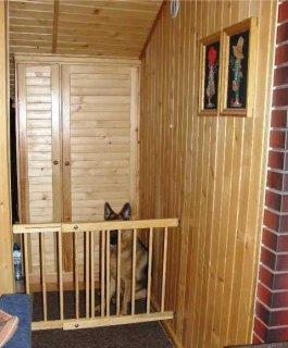 Zábrana dveře, schody 102 -160 cm výška 82 cm