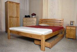 Postel Klára 140x200 cm olše masiv borovice + matrace Superflex