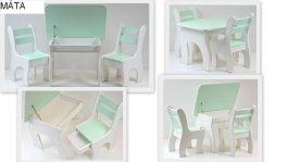 Stůl +židličky se šuplíky K3 máta