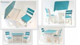 Stůl +židličky se šuplíky K3 ocean