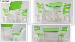 Stůl +židličky se šuplíky K3 zelená