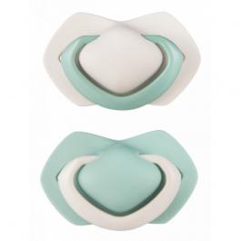 B - Canpol babies set symetrických silikonových dudlíků 6-18m PURE COLOR zelený