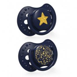 LOVI Dudlík silikonový dynamický Stardust 3-6m 2ks