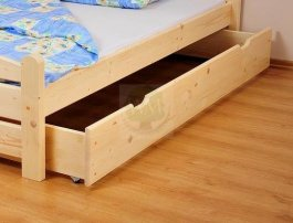 Šuplík pod postel masiv velký - smrk