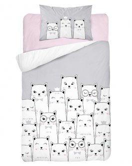 Povlečení lux bavlna - kočičky