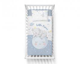 Povlečení lux bambus-bavlna modrý sloník