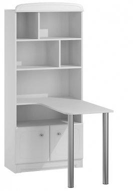 Regál s psacím stolem N36 - Bianco bílá