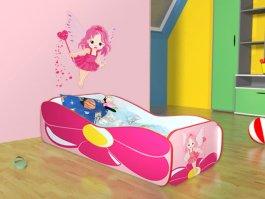 Zvětšit Dětská postel 160/80 cm květina+matrace+dárek