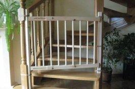 Zábrana dveře, schody 72-122 cm, výška 100 cm - B2