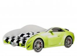Postel Cars 160/80 cm + rošt - zelená
