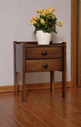 Noční stolek z masivu KÁJA - ořech
