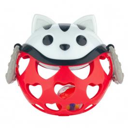 Canpol babies Interaktivní hračka míček s chrastítkem Červená kočička