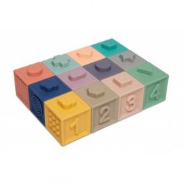 Canpol babies Měkké senzorické hrací kostky 12ks