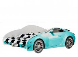 Postel S-Cars 160/80 cm + rošt - modrá