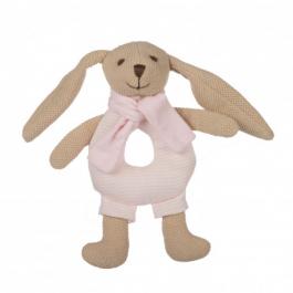 Canpol babies Zajíček BUNNY s chrastítkem růžový