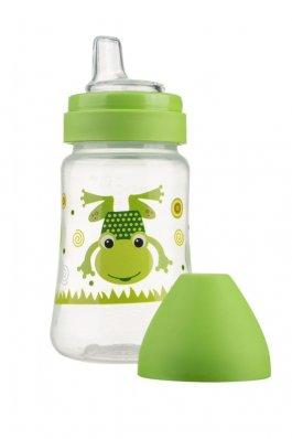 Láhev se širokým hrdlem 250 ml - zelená žába