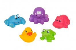 Hračky do koupele zvířátka - 5 ks