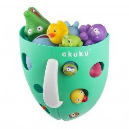 Plastový box na hračky do vany - mint