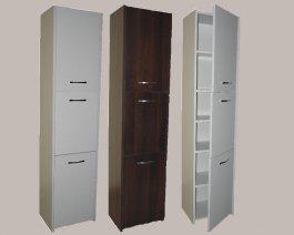 Koupelnová skříň - Aňa 3F 30 cm - WENGE