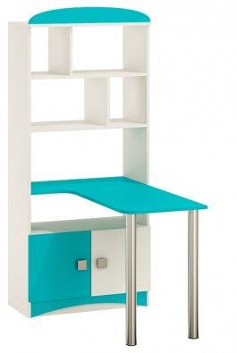 Regál s psacím stolem N36 - Aqua