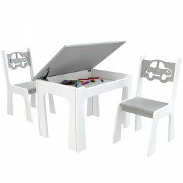 Otevírací stůl + židličky - auta - výběr barev