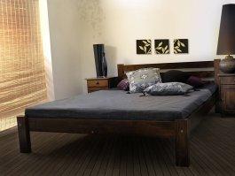Zvětšit Postel Ajša 160 x 200 cm ořech - masiv borovice