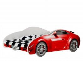Postel S-Cars 160/80 cm + rošt - červená
