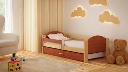 Dětská postel Bořek 180/90 cm se šuplíkem calvados