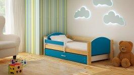 Dětská postel Bořek 180/90 cm se šuplíkem modrý
