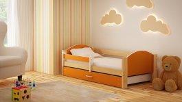 Dětská postel Bořek 180/90 cm se šuplíkem oranž