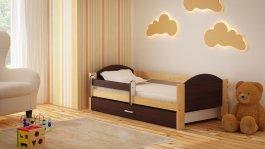 Dětská postel Bořek 180/90 cm se šuplíkem wenge