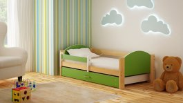 Dětská postel Bořek 180/90 cm se šuplíkem zelený