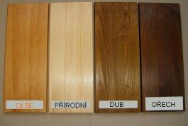 Sada tří poliček Alena z masivu - 4 barvy