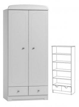 Skříň N25 - Bianco bílá