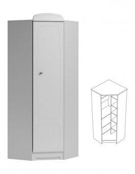 Rohová skříň N27 - Bianco bílá