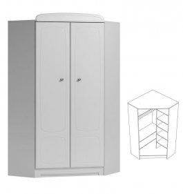 Rohová skříň N28 - Bianco bílá